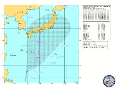 Pronostico desplazamiento depresion tropical Yagi, 08 de Junio 2013