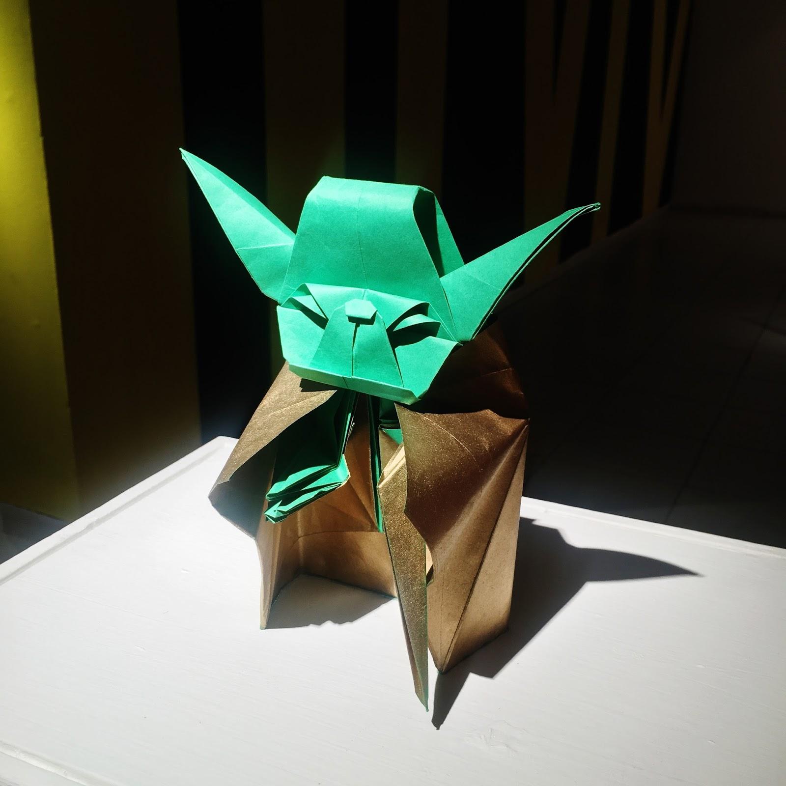 Yoda de papel origami Ana Sofía Casaverde