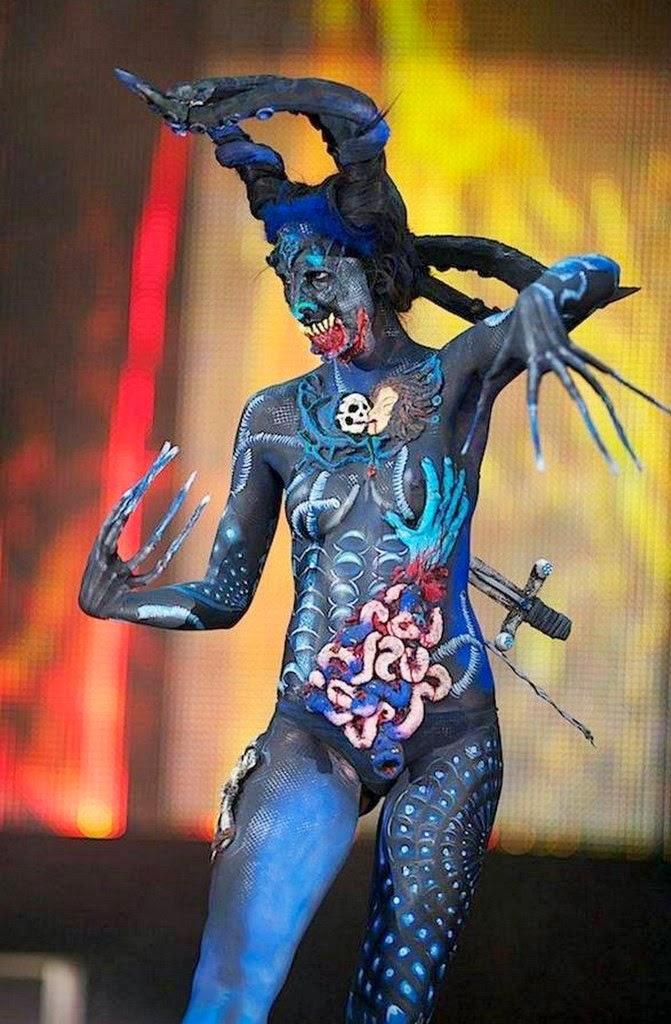 Body Art Mujeres Con El Cuerpo Pintado