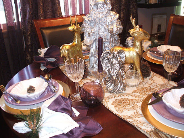 A Silver Gold Christmas Tablescape Rustic Refined