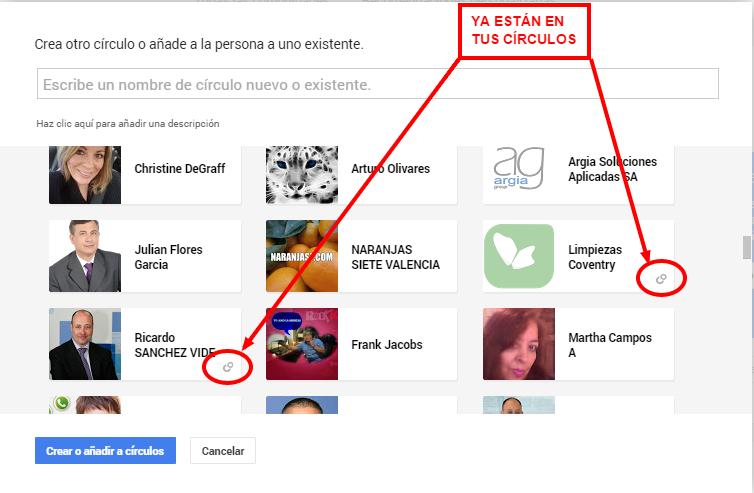 Cómo añadir un círculo Google+ sin repetir usuarios