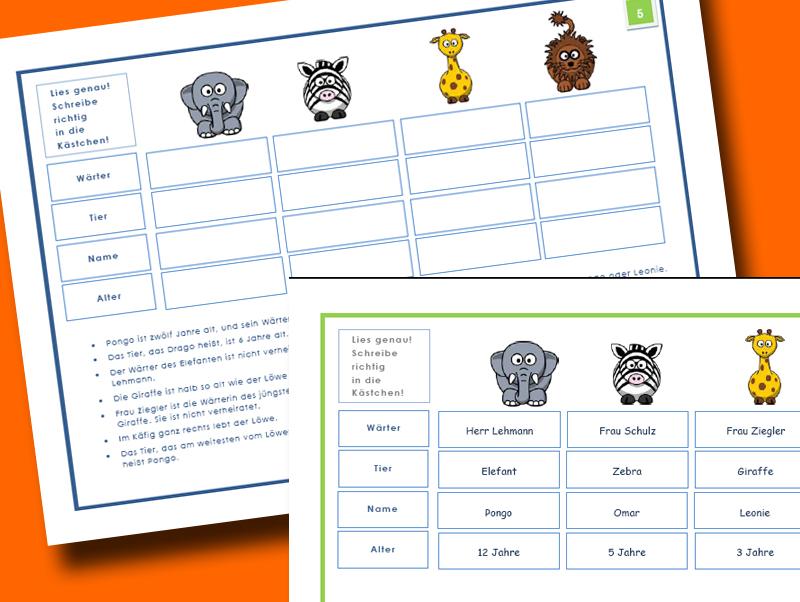Montessori Material: Montessori Material: Leserätsel - Logicals ...