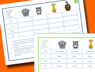 Logicals 3. Klasse - Logicals Grundschule - Lese-Logicals 3. Klasse - Lese Logicals download - Lese Logicals Deutsch - Logicals Grundschule zum Ausdrucken