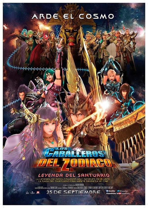 Poster Caballeros del Zodiaco: La Leyenda del Santuario
