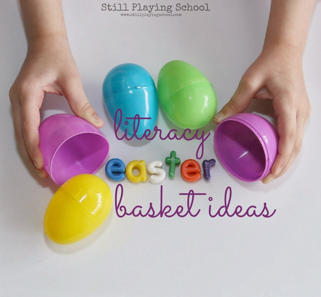 Literacy easter basket ideas still playing school literacy easter basket ideas negle Images