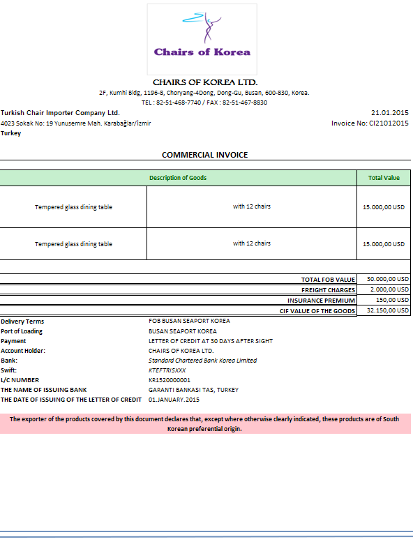 Who should issue certificates of origin advancedontrade origin declaration on a commercial invoice yadclub Choice Image