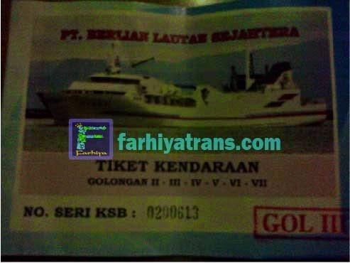 tiket kirim mobil dengan kapal roro
