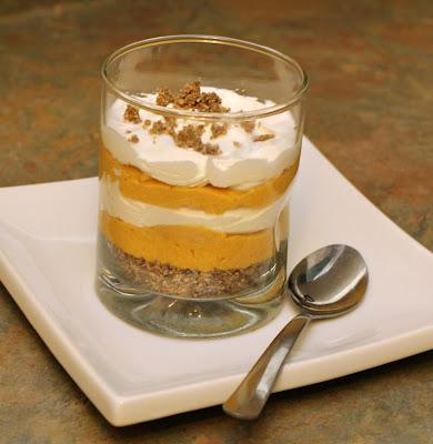 pumpkin cheesecake trifle - at www.turtlesandtails.blogspot.com