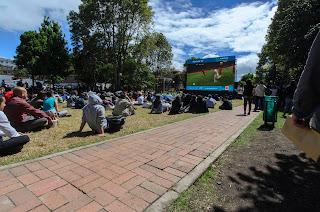 Eurocopa en el Parque de la 93. Foto: Jorge Bela