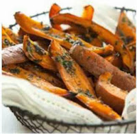 Herb-Roasted Sweet Potatoes Skins