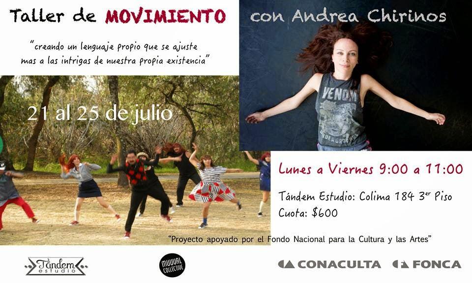 Taller de Movimiento con Andrea Chirinos en Tándem Estudio