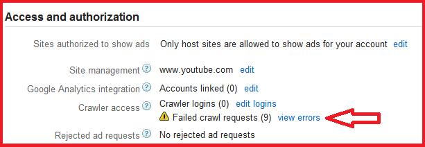How to Fix,Google AdSense,Crawler Errors