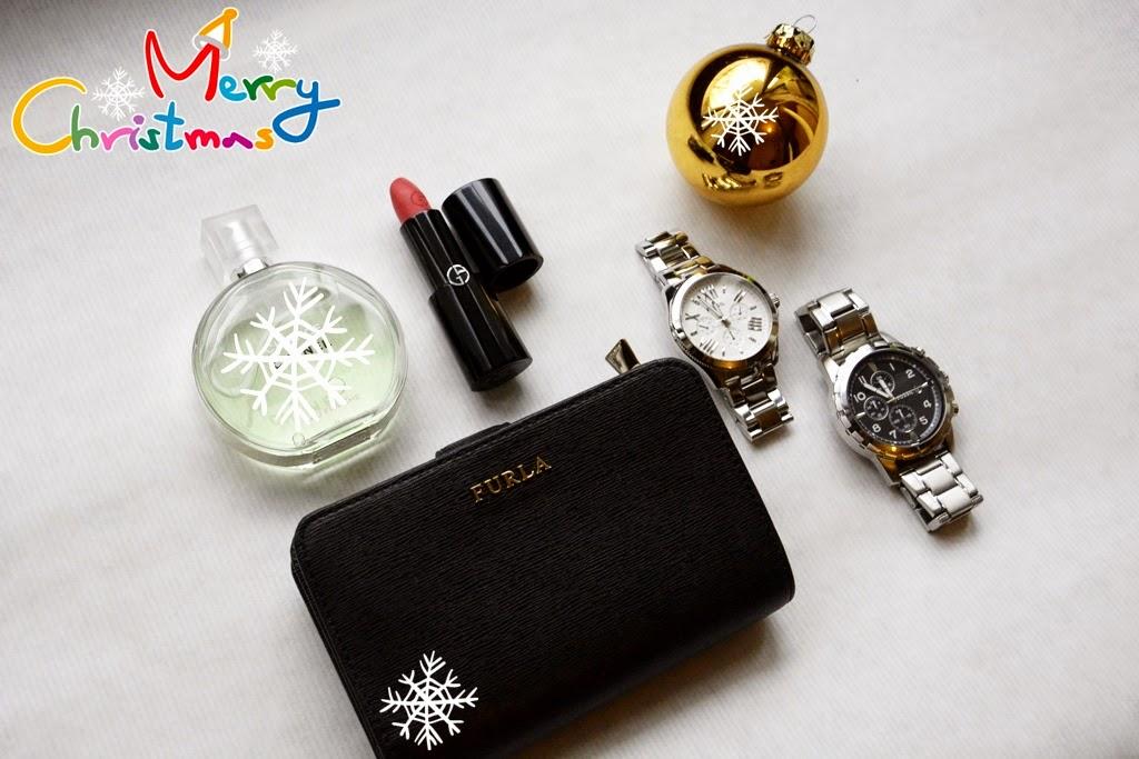 Chanel chance, Fossil Uhren, Furla Geldbeutel, Giorgio Armani Lippenstift