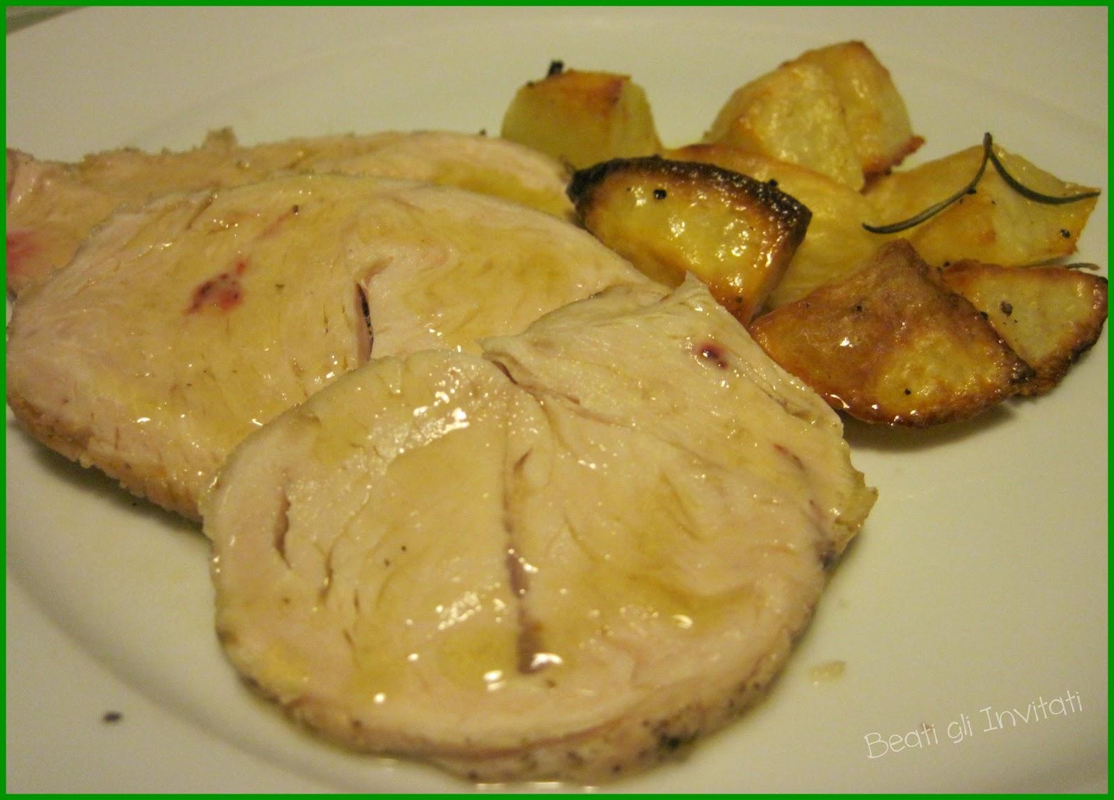 Beati gli Invitati: Arrosto di tacchino con patate al forno