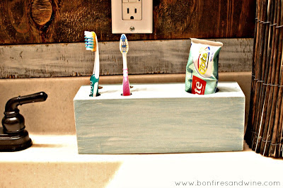 Woodenbox Toothbrush Holder