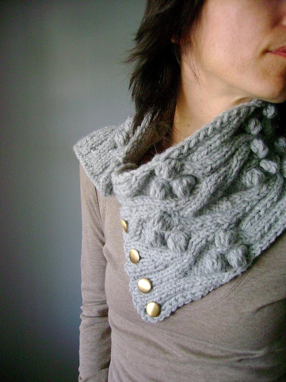 Laboratory of Fashion: PDF Knitting pattern Handknit chunky cable neckwarmer ...