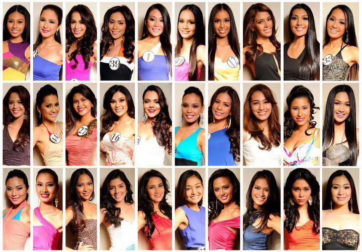 Here is the list of the official candidates for Binibining Pilipinas
