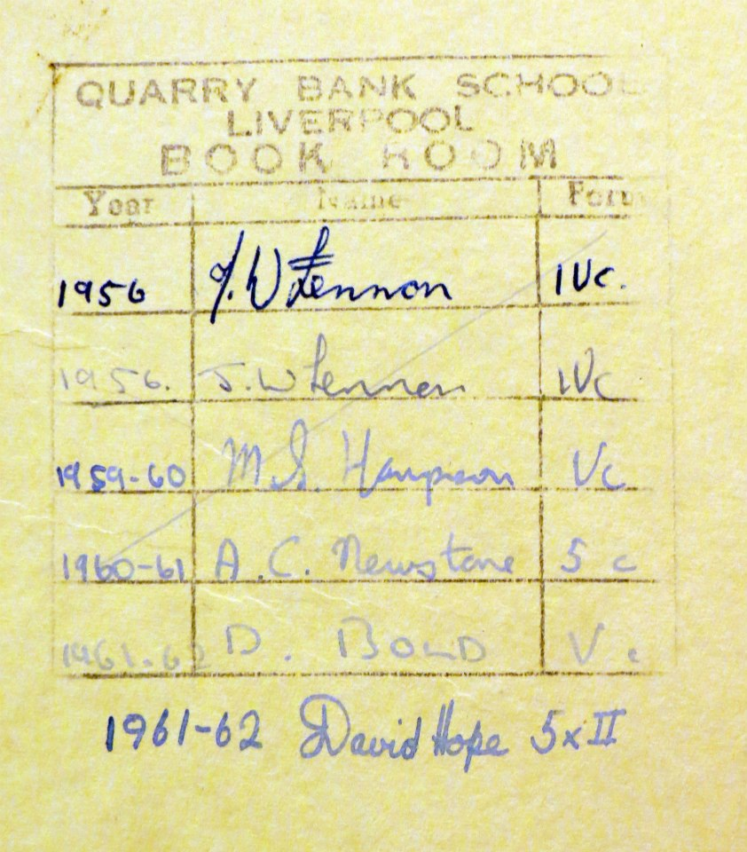 Liverpool beatles auction johns school books in fact the copy of the british isles by thomas pickles has his name written twice one instance with the l made to look like a british pound sign buycottarizona Images