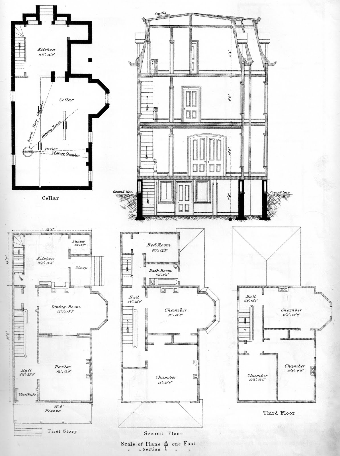 Instant house bicknell 39 s victorian buildings Servant quarters floor plans