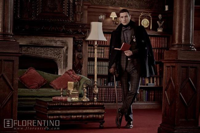 traje clasico de cuadros en florentino