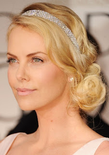 Charlize Theron Beautiful Loose Bun Hairstyles for Wedding Gorgeous Wedding Hairstyles Ideas 2013