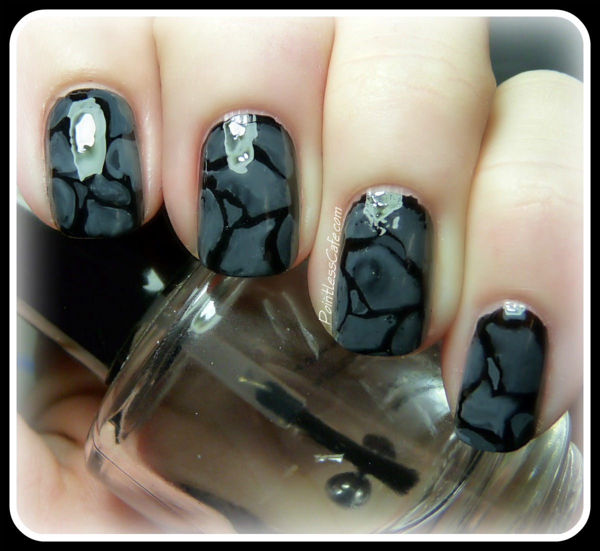 Rock/Mineral Nail Art Week: Day 2 - Literal Stones | Pointless Cafe