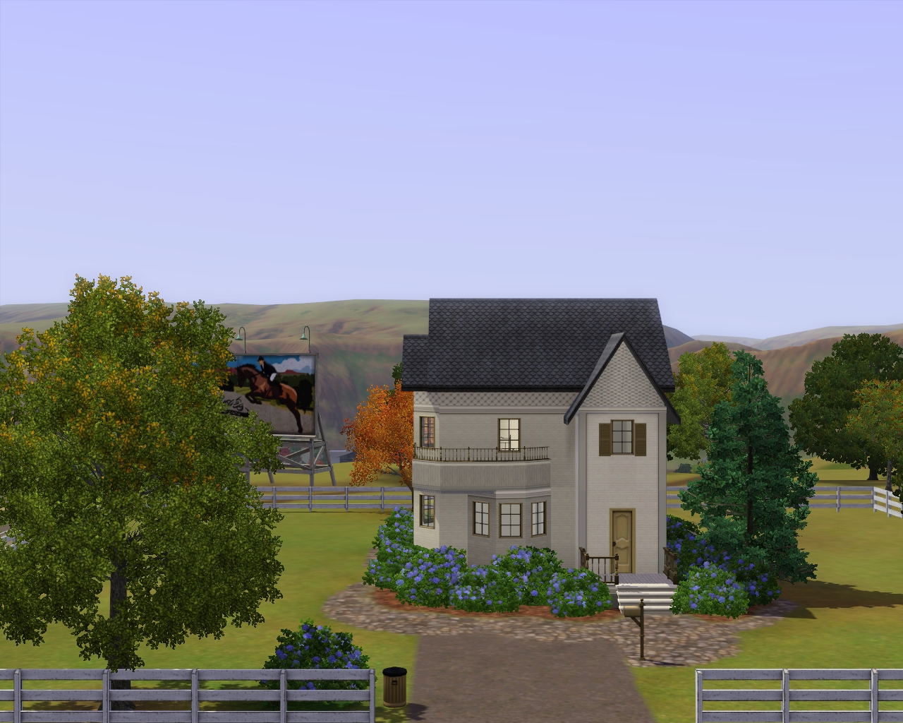 Summer 39 s little sims 3 garden appaloosa plains the sims for Lot size house
