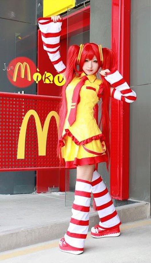 mcdonalds girl version cosplay