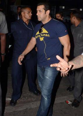 Salman Khan Spotted at Shamshabad Airport for Mental shooting