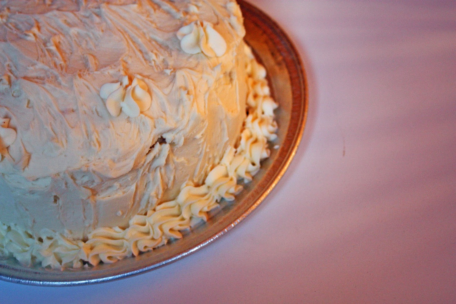 vegan vanilla layer cake