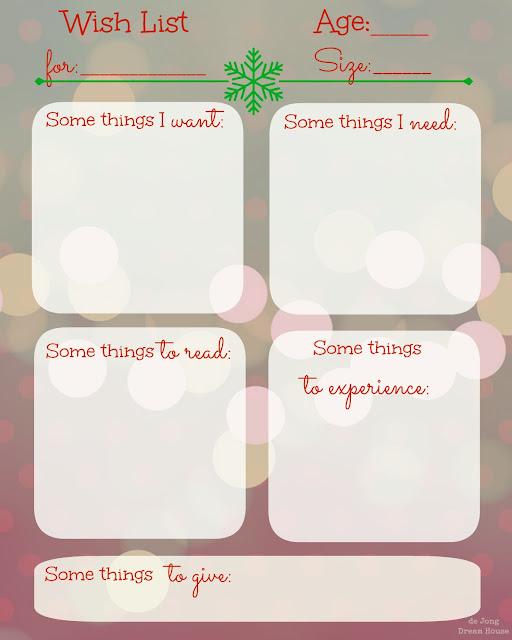 Christmas Wish List Template Word Christmas wish list