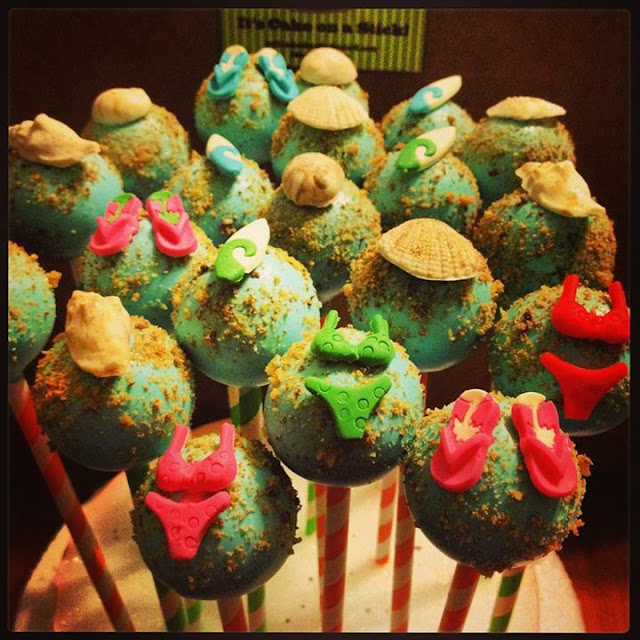 Beach Theme Cake Pops by Lollicakes by Ella