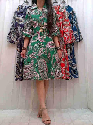 dress katun kancing