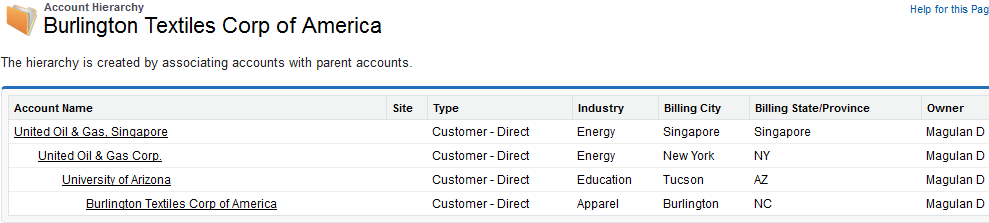 Infallible Techie: Account hierarchy in Salesforce