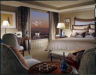 Image de la chambre deluxe room de l'hôtel 5 étoiles le Bellagio