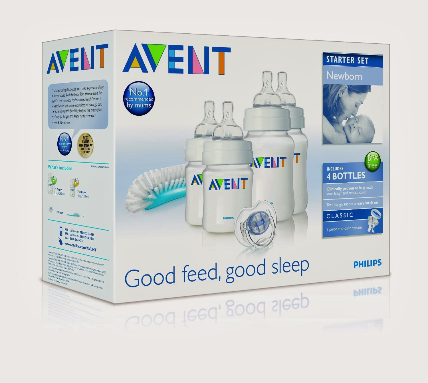 Philips Avent Scd290 00 Natural Newborn Starter Set Direct Sales Gift Baby