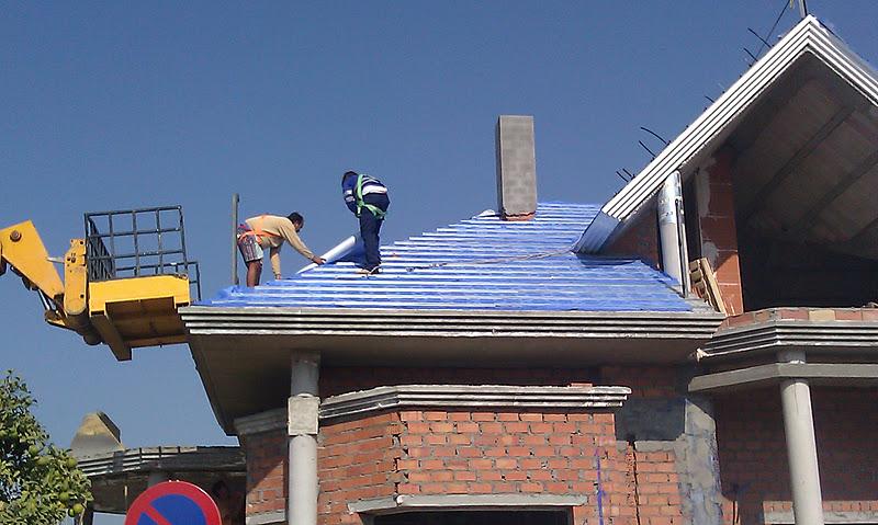 Lamina impermeabilizante para los tejados y cubiertas for Tejados prefabricados