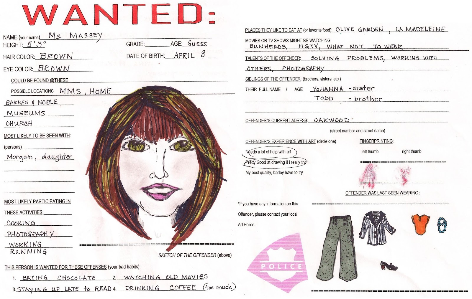 example of wanted poster