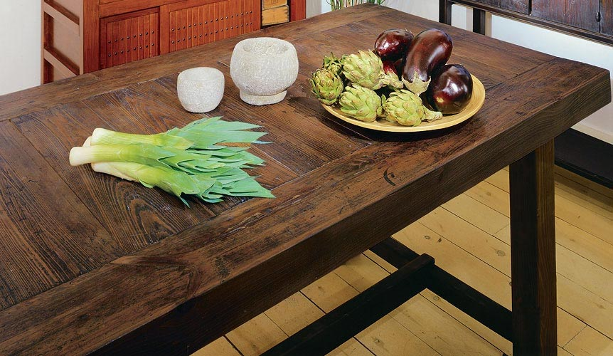 Narrow Rustic Dining Room Table
