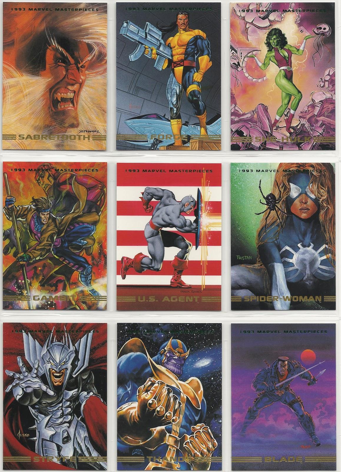 Niesportowe karty na wymianę 1993 Marvel Masterpieces BASE Trading Card #30 Karty na wymianę SHE-HULK
