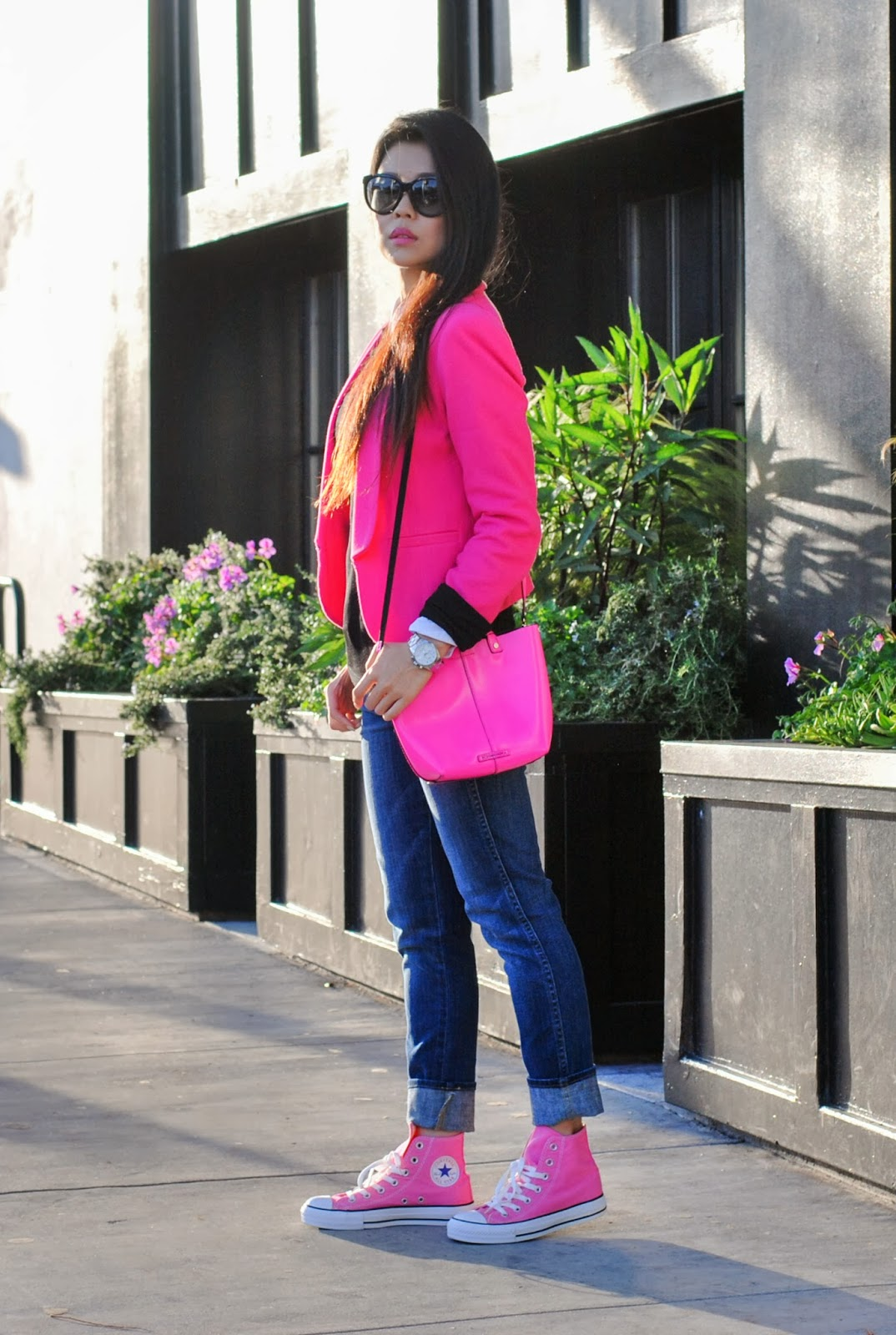 the gallery for gt hot pink converse outfit