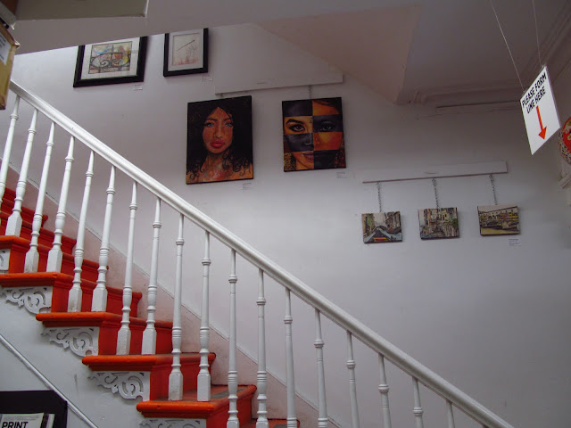 malinda prudhomme, staircase showcase, aboveground art supplies, ocad, ago, mixed media artist