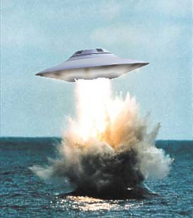 UFO Rising From The Ocean