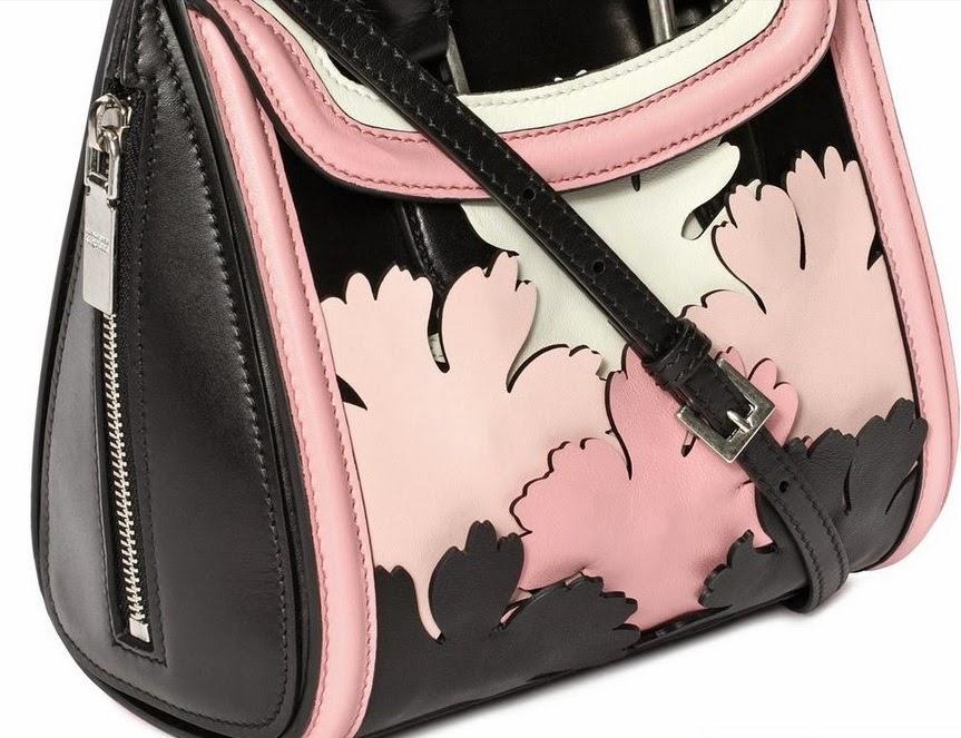 3D Geisha Pink Floral Handbag