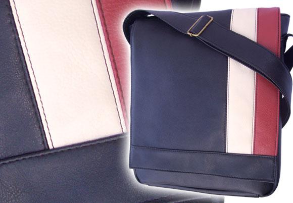 Bolso morral cuero eco vertical cuadernolas | Mod. 3025