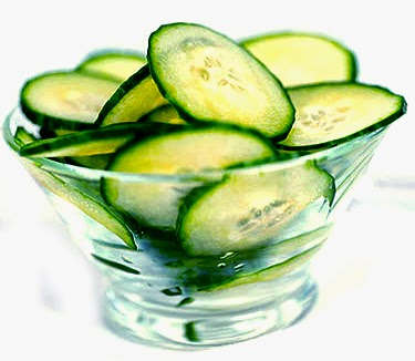 Get Rid of Bags Under the Eyes, Iced Cucumber Slices