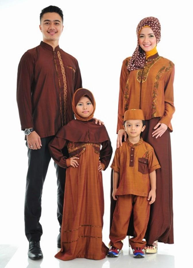 Contoh Gambar Baju Couple Muslim Batik Keluarga
