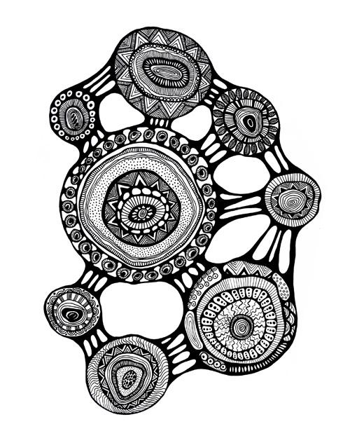 Black & White Printable Art Print - Abstract - Graphics - Clipart