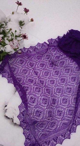 TE KOOP : paarse Haapsalu shawl