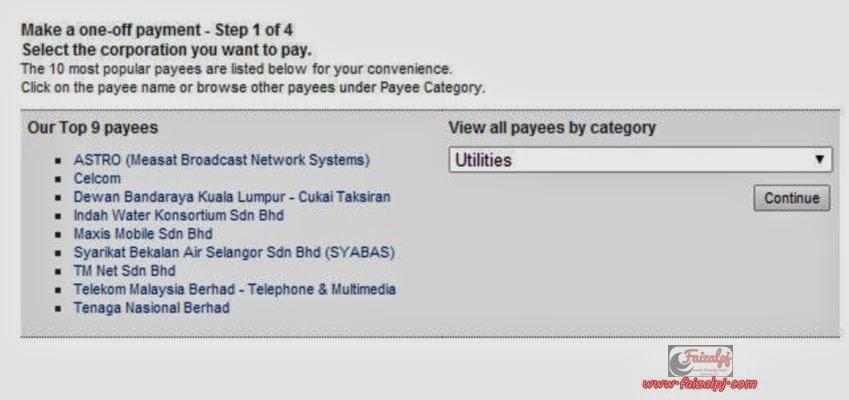 Tutorial bayar bil uniFi secara online